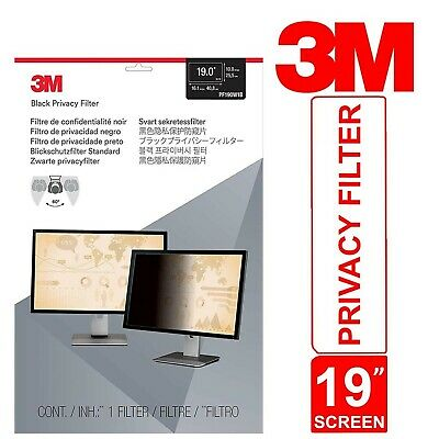 3M Privacy Filter For 19  Widescreen Monitor Desktop LCD Touch Sensitive PF19.0W • 56.45£