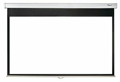 Optoma 92 Inch Manual Projection Screen With Self Locking Mechanism DS-9092PWC • 53£