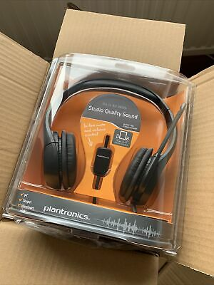 Plantronics Audio 355 Stereo Studio Quality Headset BNIB Noise Cancelling • 17.99£