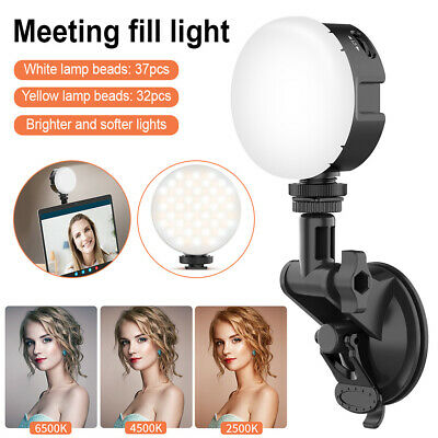 Laptop Light Computer Desk Fill Light Video Conferencing Suction Cup Fill Lamp • 16.99£