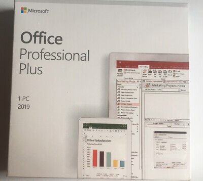 Microsoft Office 2019 Professional Plus Full Version Retail Package Genuine 1PC • 109.99£