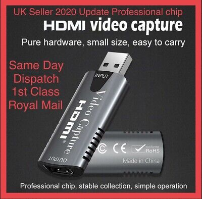 HDMI To USB Video Capture Card 1080P For Game / Live Streaming Portable USB  • 9.95£