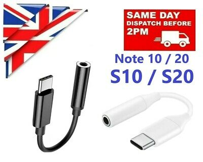 USB TYPE C TO 3.5mm AUDIO AUX HEADPHONE ADAPTER For SAMSUNG S10 S20 NOTE 10 20  • 4.49£
