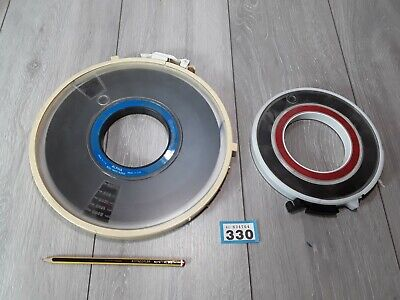 2 Vintage IBM Mainframe Computer Data Magnetic Tape Reel Geek RARE Collectable  • 20£