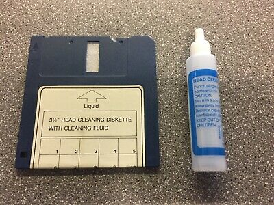 Vintage 3.5  Floppy Disc Drive Head Cleaning Diskette (disk Drive Cleaner) Fluid • 9.95£