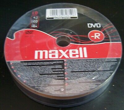 20 X Maxell DVD-R - 4.7GB Re-Writable 120Min Blank New  • 5.75£