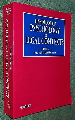 Handbook Of Psychology In Legal Contexts - Edited Bull & Carson - Wiley 2001 Pbk • 9.99£