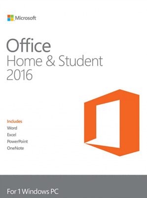 Microsoft Office 2016 - Home & Student Retail (Lifetime) Licence Key (1 PC) • 39.99£