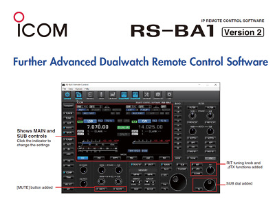 ICOM RS-BA1 Version 2 IP Remote Control (software Only) • 29.99£