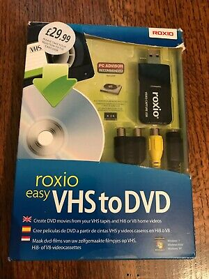 Roxio Easy VHS To DVD Digital Video Converter S-Video USB Capture • 9.50£