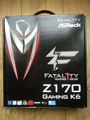 ASRock Fatality Z170 Gaming K6 And All Original Accessories • 99.99£