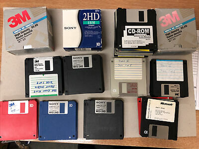 66 X 3.5  Inch 1.44MB HD Floppy Disks, Joblot, Not Tested, Sony 3M Dysan • 25£