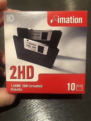 * SEALED* *NEVER OPENED* Imation Floppy Disk 10 Pack 1.44mb 2HD PC Retro • 5£