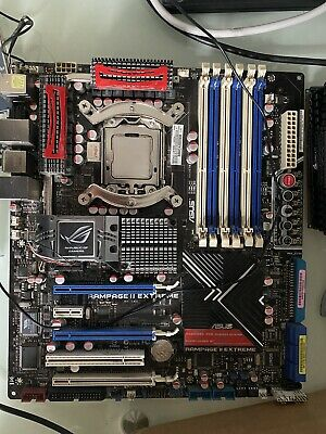Asus Rampage II Extreme + Intel Core I7 965 @ 3.2Ghz            With Sound Card • 125£