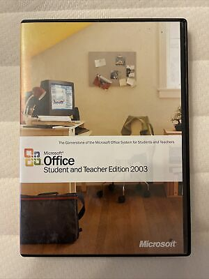 Microsoft Office Student And Teacher Edition 2003 With Product Key • 5£