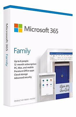 Microsoft 365 Family Software - 12 Months, 6 Users • 55£