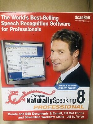 Box For Dragon Naturally Speaking 8 & Product Key (?) • 4.50£