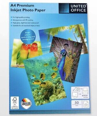United Office A4 Premium Inject Photo A4 Paper, 280gsm 50 Sheets • 30£