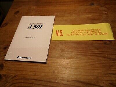 Commodore Amiga ~ RAM Expansion A501 User's Manual ~ *MANUAL ONLY* • 0.99£