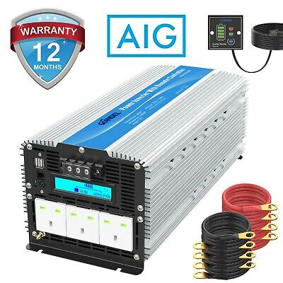 Power Inverter 5000W Modified Wave DC 12V To AC 240V With 4 AC Outlest Giandel • 378.99£