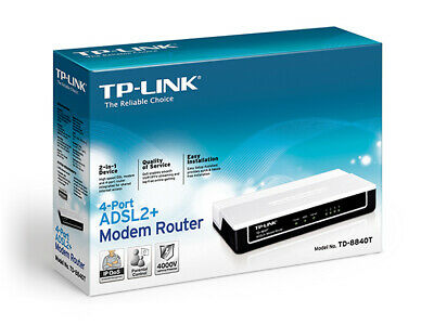 *Brand New & Boxed* TP-Link TD8840T 4 Port ASDL2+ Modem/Router • 29.99£