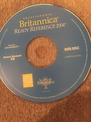 Encyclopedia Britannica Ready Reference 2004 • 3.98£