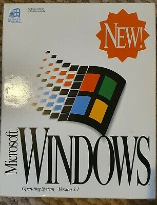 Microsoft Windows OS 3.1 - Complete And Boxed- Disks Still Sealed (unused). • 1.20£
