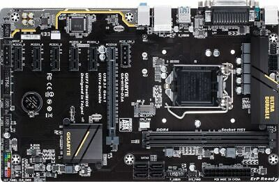 Gigabyte H110-D3A LGA 1151 6 X GPU Support Motherboard Crypto Mining Ethereum  • 90£