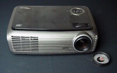 Optoma DLP Video Projector PC VGA DVI  Working Good Bulb Carry Case • 99£