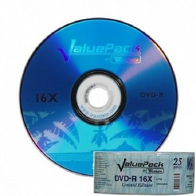 600 X TRAXDATA 16X BRANDED DVD-R INC NEXT DAY DELIVERY • 79.43£