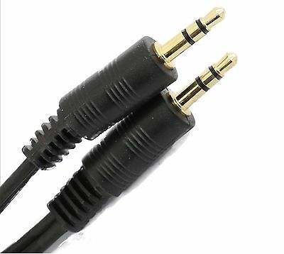 Short 10cm To   30cm 3.5mm Jack To Jack Audio  Lead Gold Stereo Aux Cable Ipod  • 2.17£