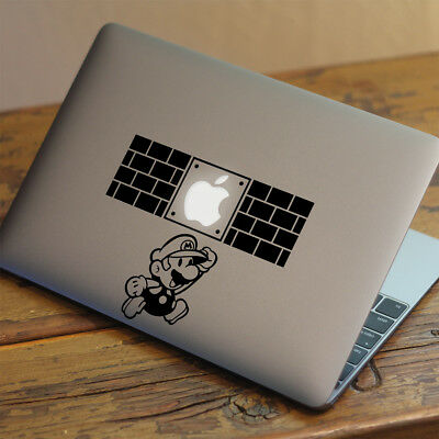 SUPER MARIO Apple MacBook Decal Sticker Fits 11  12  13  15  And 17  Models • 4.99£