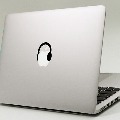 HEADPHONES Apple MacBook Decal Sticker Fits 11  12  13  15  & 17  Models • 1.99£