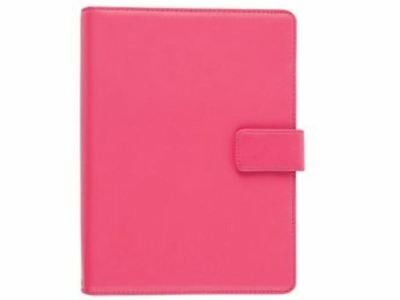 Tesco Real Leather 7  Universal Tablet Case Pink For Use With Hudl + 7  Tablets • 16.89£
