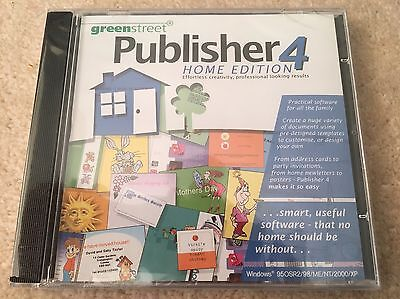 Publisher 4 Home Edition - PC Software - Create Birthday Cards, Business Cards.. • 9.95£