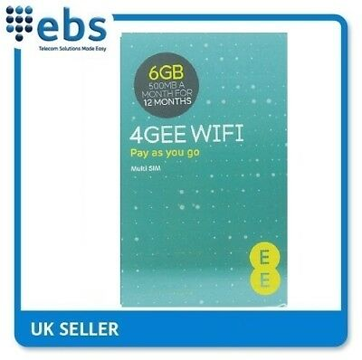 EE PAYG 4G Data Only Sim Card Preloaded With 6GB-500MB A Month For 12 Months • 24.99£