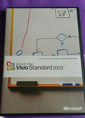 Microsoft Visio 2003 Standard Genuine Rare Software Retail With Product Key  • 39.99£