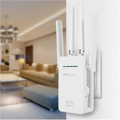 Wifi Repeater Wireless Router Range Extender Signal Booster With Antenna Sky Wps • 20£