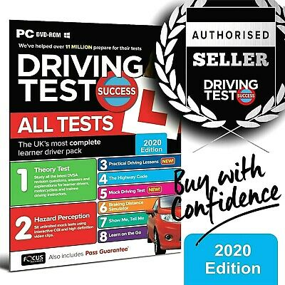 2020 Driving Theory Test And Hazard CD DVD Rom Just Released. Brand New • 6.05£