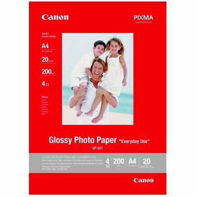 Canon GP 501 Glossy Photo Paper | A4 | 20 Sheets | 200gsm • 9.99£
