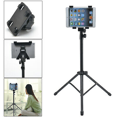 For 7-12.5  IPad Mini Air Pro Tablet Adjustable Floor Mount Stand Tripod Holder • 14.99£