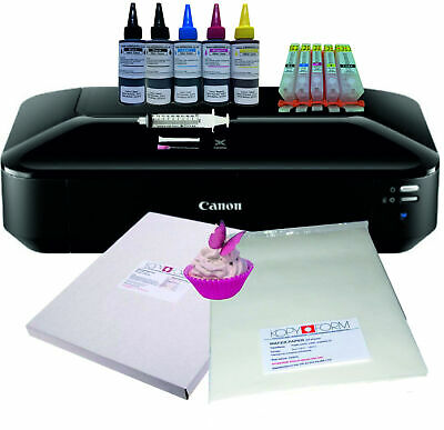 Edible A3 Printer Bundle, Refillable Cartridges, Edible Ink, Wafer & Icing Paper • 274£