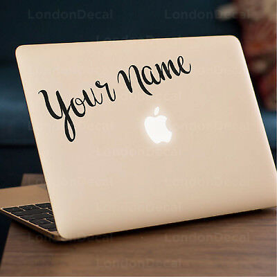 **YOUR NAME** Apple MacBook Decal Sticker Fits 11  12  13  15  And 17  Models • 4.49£