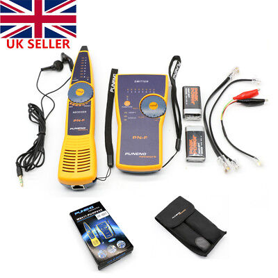 RJ45/11 Network LAN Telephone Cable Toner Wire Line Tester Tracer Tracker In UK • 31.54£