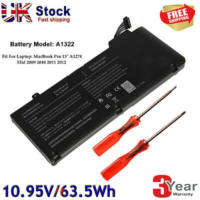 Battery For Apple MacBook Pro 13  A1322 A1278 Mid 2009/2010/2012 MB990 MB991 • 23.99£