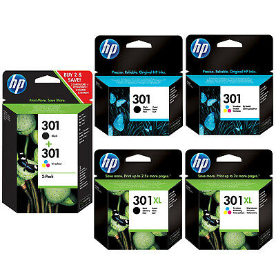 Genuine HP 301 Combo / 301XL Black And Colour Ink Cartridges For Deskjet 2450 • 15.45£