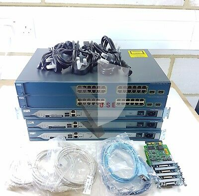 Cisco Ccna Ccnp Lab Kit 2801 Router 3560 Switch Latest Ios 15. • 195£