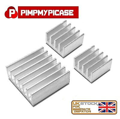3pcs Heatsink Aluminium Cooler With 3M Thermal Adhesive Pads For Raspberry Pi • 1.62£