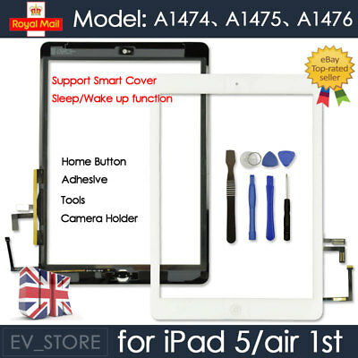 White Screen For IPad 5 Air 1 Replacement Digitizer Touch Glass Home Button Tool • 10.49£