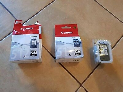 Canon Ink Black 512 Black X2 And 511 Color X1 • 30£